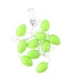 10 groene paaseieren met led