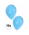 10 lichtblauwe ballonnen