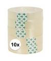 10 rolletjes plakband