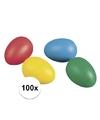 100 gekleurde plastic eieren