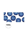 1000x pailletten blauw 6 mm