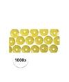 1000x pailletten geel 6 mm