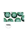 1000x pailletten groen 6 mm