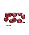 1000x pailletten rood 6 mm