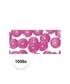 1000x pailletten roze 6 mm