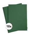 10x a4 hobby karton donkergroen 180 grams