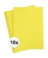 10x a4 hobby karton geel 180 grams