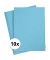 10x a4 hobby karton lichtblauw 180 grams