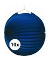 10x lampionnen blauw 22 cm