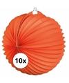 10x lampionnen oranje 22 cm