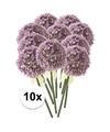 10x lila sierui kunstbloemen 70 cm