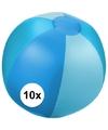 10x opblaasbare strandbal blauw