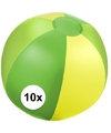 10x opblaasbare strandbal groen
