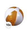 10x opblaasbare strandbal oranje