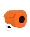 10x oranje toiletpapier