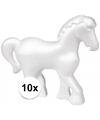10x piepschuim paarden 15 cm