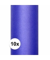 10x rollen tule stof blauw 0 15 x 9 meter