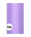 10x rollen tule stof paars 0 15 x 9 meter