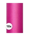 10x rollen tule stof roze 0 15 x 9 meter
