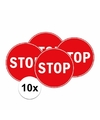 10x stopbord stickers 15 cm