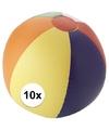 10x strandbal opblaasbaar multicolor