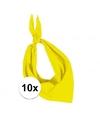10x zakdoek bandana geel