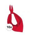 10x zakdoek bandana rood