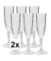 12x champagne glazen 200 ml