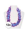 12x hawaii slinger paars blauw