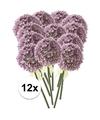 12x lila sierui kunstbloemen 70 cm