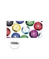 1500x pailletten gekleurd 6 mm