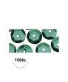 1500x pailletten groen 6 mm