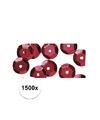 1500x pailletten rood 6 mm