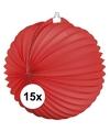 15x lampionnen rood 22 cm
