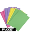 16x a4 hobby karton fuchsia roze geel groen paars