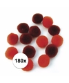 180x rode knutsel pompons 15 mm