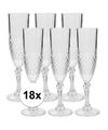 18x champagne glazen 200 ml