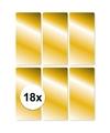 18x gouden cadeau etiketten