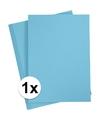 1x a4 hobby karton lichtblauw 180 grams