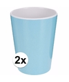2 kinderbekers melamine blauw 600 ml