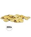 200 x gouden schatkist munten