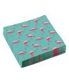 20x flamingo servetten 33 x 33 cm
