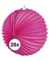 20x lampionnen fuchsia roze 22 cm