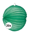 20x lampionnen groen 22 cm