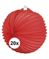 20x lampionnen rood 22 cm