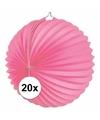 20x lampionnen roze 22 cm