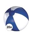 20x opblaasbare strandbal blauw
