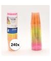 240x plastic gekleurde shotglazen