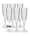 24x champagne glazen 200 ml
