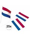 25x plastic zwaaivlaggetje holland